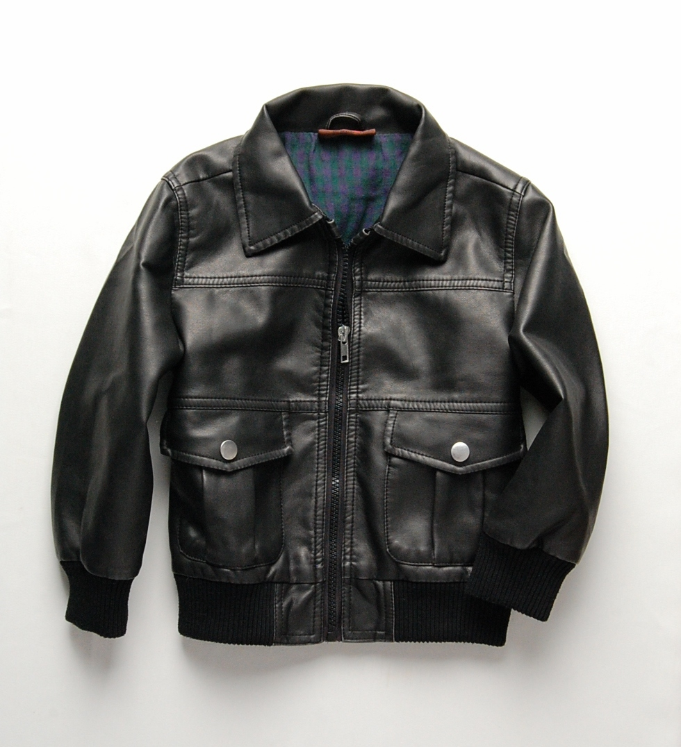 Big boys in leather jackets leather boy Korean children's ...