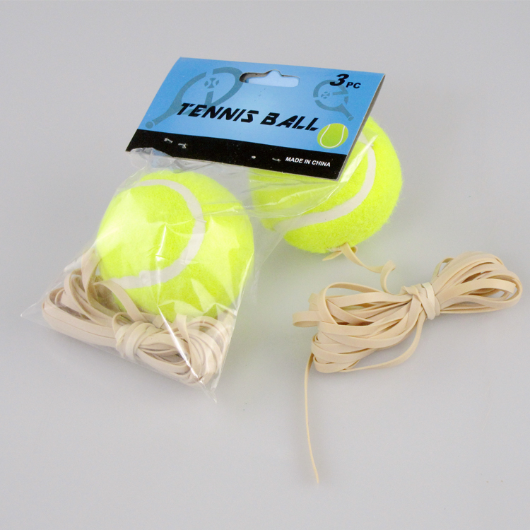 Package 2 tennis with string, special price, single player training tennis with thick rubber band, strong and durable
