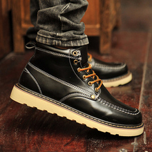 Butyl boots high young men help shoes tooling British male han edition tide horse boots men leisure shoes men's shoes in summer