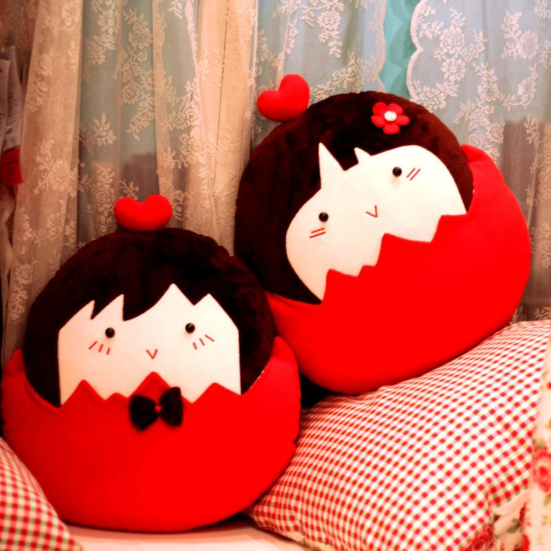 天生一对可爱玩偶结婚礼物新婚压床娃娃情侣公仔婚庆婚房毛绒抱枕