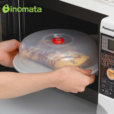 日本进口 inomata塑料盖子 微波炉加热盖 冰箱保鲜盖 盘子盖碗盖