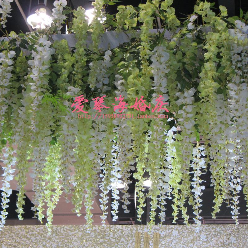 Гортензия свадьба реквизиты Вистерия арка Hua Ting путь гортензии цветы возложить венки оформленный сад взял длинный Боб