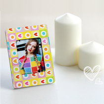 Personality Lomo Card postcard DIY custom creative magnet sticker iron box rack small gift orange system