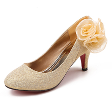 Bride wedding accessories accessories bride shoes X004 gold