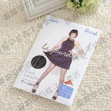 12 double package mail na jiao d. 10 dt type cotton core-spun yarn fork pantyhose non-trace stockings T9101G trample feet