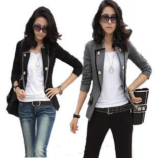 2014 Hitz Korean Women's Clothing OL short paragraph Slim bailingfs long sleeves small suit Ms. suit jacket