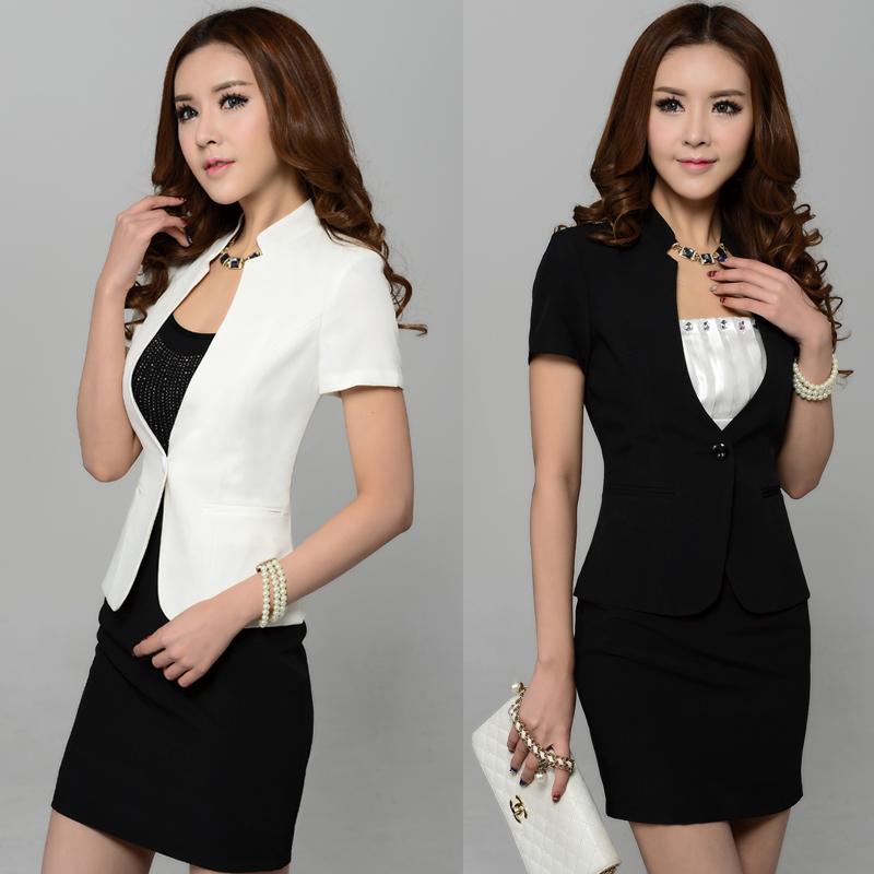 2018夏装短袖修身职业装女装套裙 女士西装OL白领套装工作服正装