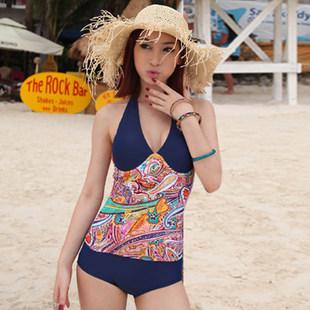 2012新款泳装 全罩杯钢托连体平角款式泳衣女 泡温泉泳装