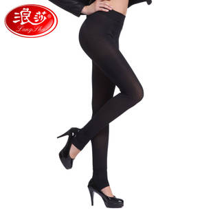 Langsha 22000D white charcoal leggings Dongkuan plus thick velvet double plus file step foot tights genuine flagship store
