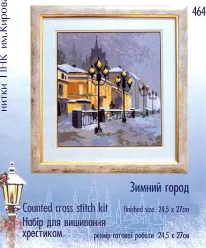 Вышивка крестом электронный рисунок вес окрашенный источник файл Charivna Mit- 464 снег из уличные