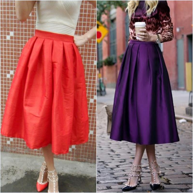 Винтаж высокой талией пачка осенью 2015 года и юбка юбка юбка плиссированные юбки в платье с юбкой
