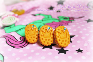 Japanese Harajuku style cute swimmer Crown Ring Ring cracker sandwich handmade lolita