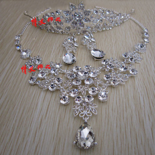 Friendship bride jewelry crown necklace earrings wedding dress accessories headdress new wedding makeup