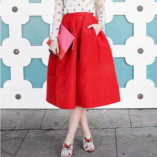 Пост 2015 новые осень и зима в Европе и юбка слоеного платье плиссированные юбки высокой талией и положить юбка