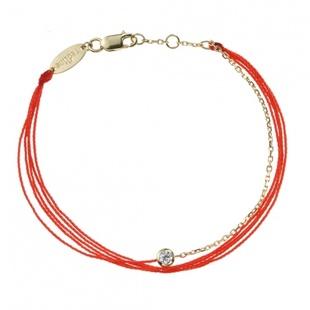 redline红绳线手链绳钻镶SONA钻镀K金本命年经典多绳款