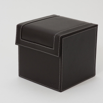 HIPCE Classic Leather CD box DVD storage box with cover large capacity 80 disc creative disc storage box