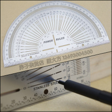 200mm Carpentry Ruler Protractor Angle Tunnel