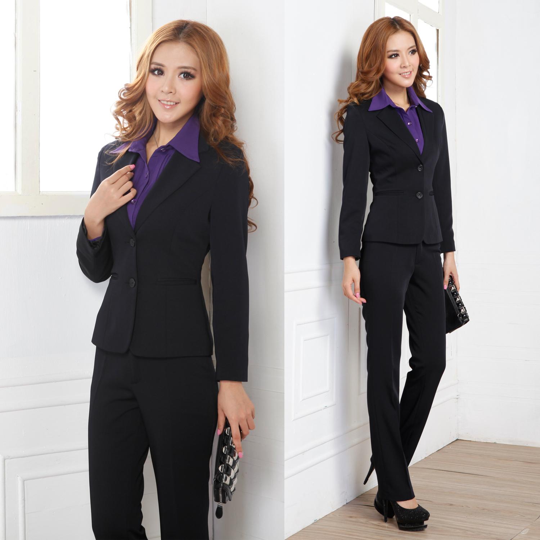 2012春季ol职业装套装外套女装西裤子西服正装二件套西装工装 G18