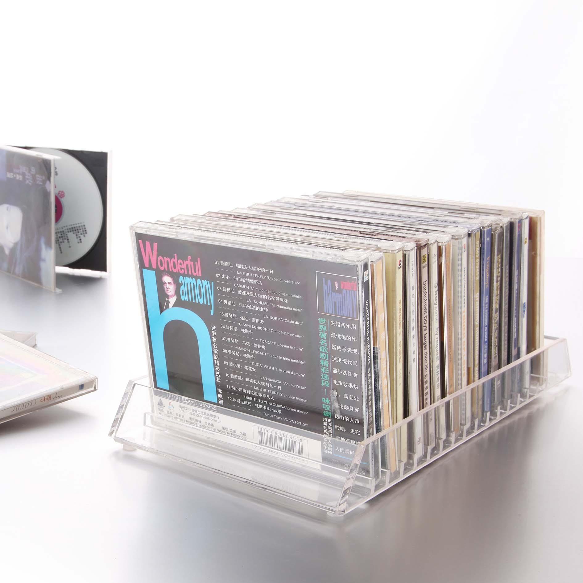 Музыка дом простой фасон ветер акрил прозрачный кристалл смысл больше сетка рабочий стол CD коробка в коробку CD полка