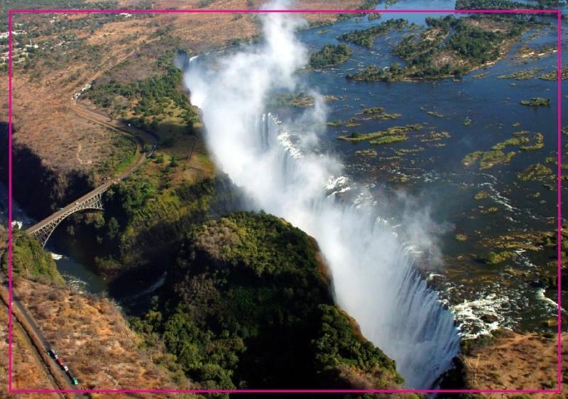 居家日用非洲津巴布韦赞比西河维多利亚瀑布磁性冰箱贴纪念品5527