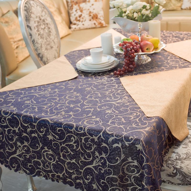 Темно-синий стол ткань ткани мода журнальный столик ткань скатерти отеля скатерти на заказ скатерти Ресторан скатерти