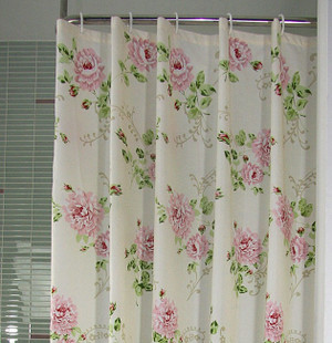 Genuine counter diverse housing TAYOHYA garden with roses curtain hooks waterproof polyester low priced imports