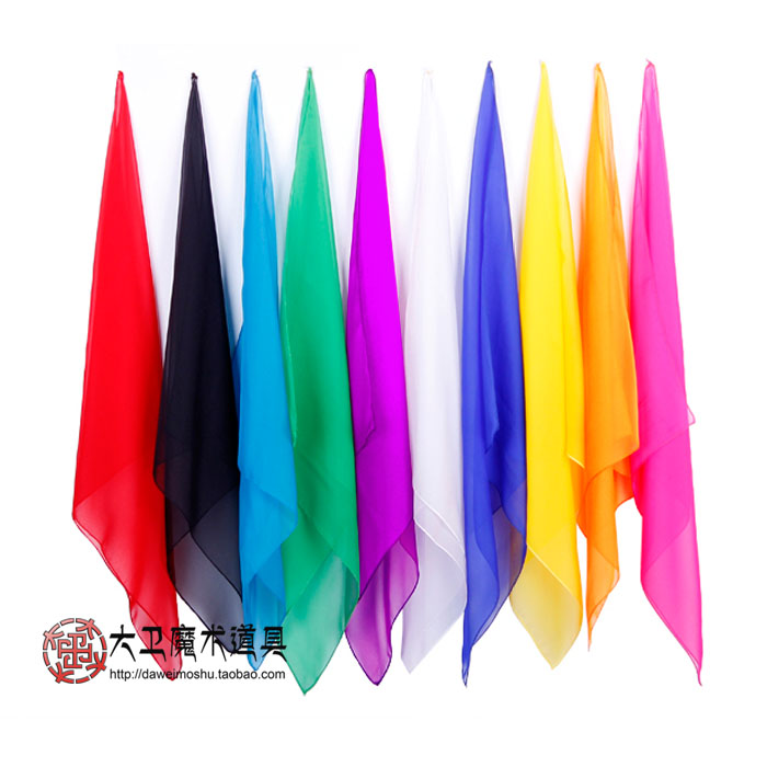 魔术丝巾 魔术绸 舞台魔术道具丝巾 薄丝巾柔丝丝巾魔术师绸巾