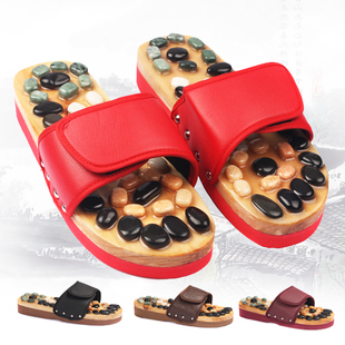 Korea natural cobblestone foot massage slippers point home health slippers summer male and female couple shoes