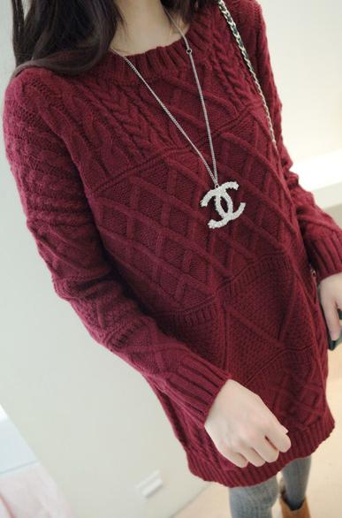 Новая Корейская версия для осень/зима женщин подлинный конец свободно экипажа шеи шерстяные свитера свитер водолазка длинный свитер женщин
