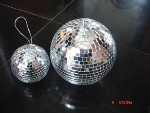 Bar DISCO stage mirror ball light reflective glass balls decoration ball Christmas glass ball 10CM