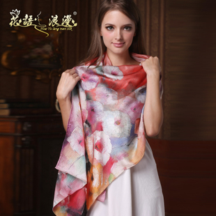Autumn 2015 new long scarf shawl dual long scarf silk scarf silk scarf digital printing Hangzhou
