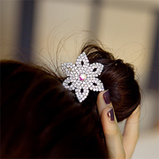 B032 good jewelry Korea drill temperament Hexagon flower hair jewelry Flash rope