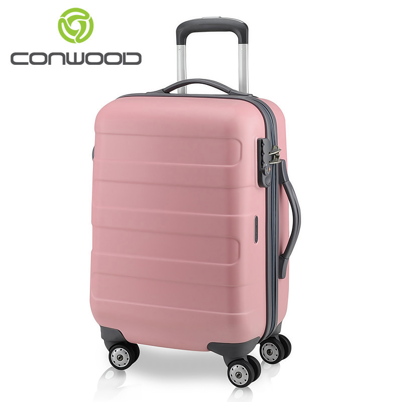 96016da7c80a CONWOOD Kangwo pct018 scratch PC trolley suitcase caster luggage bags for  men and women