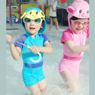 Hot models cartoon boys and girls children s swimwear piece swimsuit baby swimsuit sunscreen
