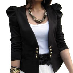 Корейская версия весной и осенью и XL плюс удобрений увеличение отмахнуться пузыря рукав тонкий маленький костюм маленький длинный рукав костюм пальто