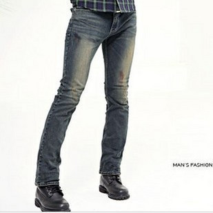 Customized Korean mens fashion ultra low waist skinny jeans