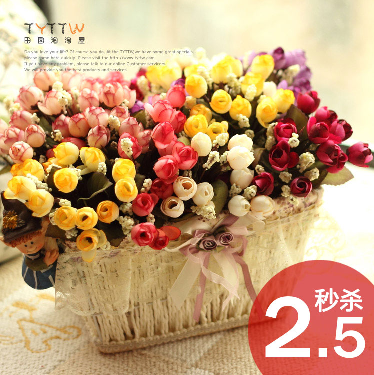 Премиум подлинной Спайк 2,5/ветки высокое качество декоративной бутон розы букет моделирования цветок искусственный цветок шелк цветок