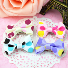 Four color bow wave point pet little head The dog dog teddy Yorkshire accessories hair clip hairpin hair accessories