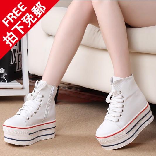 Супер высокой платформы обувь высокие ботинки высокой пятки кроссовки Корейский с высокой государственной кроссовки платформы обувь прилив 2015 кроссовки