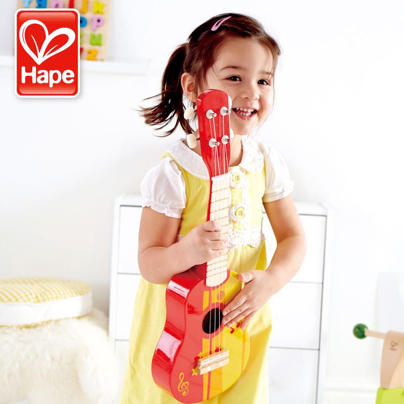 Shape small guitar Mini ukulelli childrens music toy can play simulation instrument quadrangle