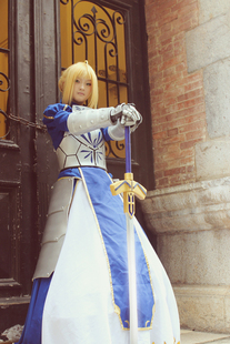 Man show COS sell night cosplay FATE ZERO SABER swordsman fighting version of Destiny clothes