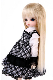 1 6 BJD SD doll wig hot wire F033 long straight hair