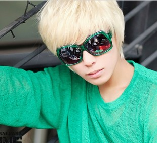 Male hair wig fashion short hair wig beige Korean men handsome short hair cosplay wig