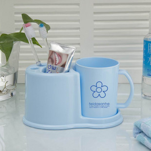 Feida three and toothbrush toothpaste wash with toothpaste holder Tumbler Set toothbrush holder bathroom storage F3191