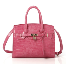 Han edition handbag hardfaced one shoulder embossing oblique cross with the bag in the crocodile lines cross section shape leisure BaoDiGe 8350