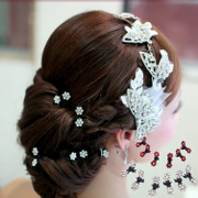 Good heart to heart bridal hairpin with the makeup beauty styling head hair accessories Bridal Accessories Studio jewelry