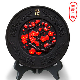 Fashion carbon carving crafts gifts Sijunzi Meilan Ju bamboo ornaments creative minimalist furnishings carbon carving
