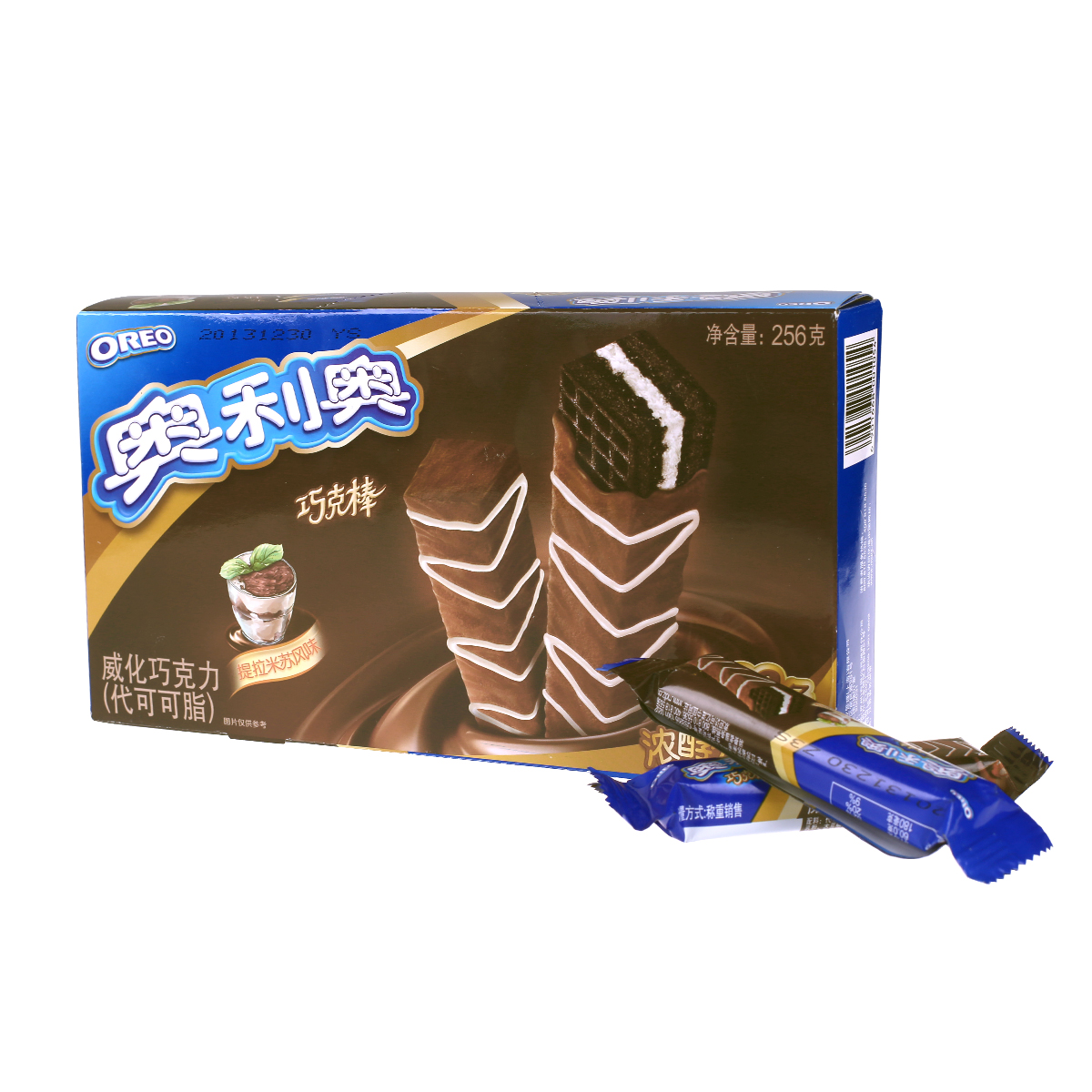 億滋奧利奧巧克棒威化巧克力提拉米蘇口味256g