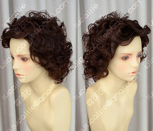 sell like hot cakes 2 colors Mature Mom Large wind whole head roll elderly wig cos wig