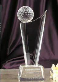 水晶高尔夫奖杯定制金属奖杯授权奖牌水晶内雕奖杯琉璃奖杯图片